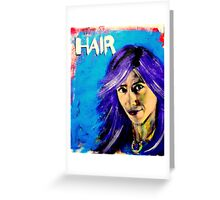 Self portrait, (with extra hair). Greeting Card