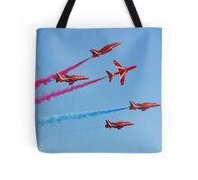 Red Arrows aerobatic team Tote Bag