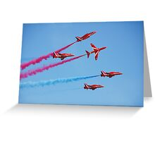 Red Arrows aerobatic team Greeting Card