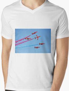 Red Arrows aerobatic team Mens V-Neck T-Shirt