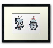 Robot Love Framed Print