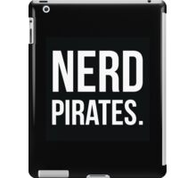 Nerd Pirates Logo - Minimalist Geek Chic iPad Case/Skin
