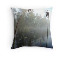 Water Web Throw Pillow