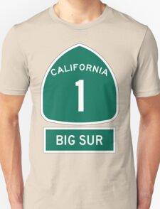 PCH - CA Highway 1 - Big Sur Unisex T-Shirt