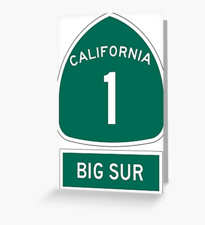 PCH - CA Highway 1 - Big Sur Greeting Card