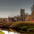 Reflections of the Past, Fountains Abbey by mdgaskell
