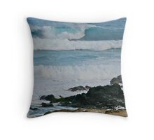 Ho'okipa Beach Park II Throw Pillow