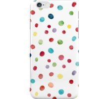 Bright colorful watercolor dots iPhone Case/Skin
