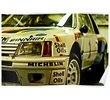 Peugeot 205 Rally Car Poster