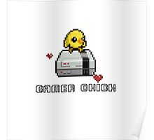 Gamer Chick Pixel Art Poster