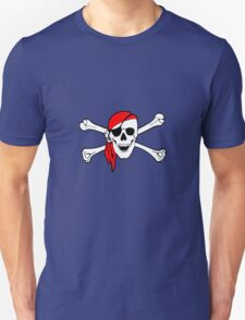 Pirate skull and crossbones geek funny nerd Unisex T-Shirt