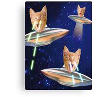 cat laser Canvas Print