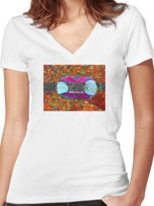 Recycle Reuse Women's Fitted V-Neck T-Shirt