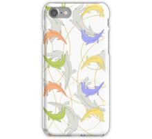 Pattern with crocodiles iPhone Case/Skin