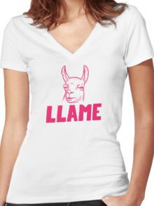Llame Women's Fitted V-Neck T-Shirt