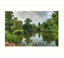 Dulwich Lake HDR No2: London, UK. Art Print