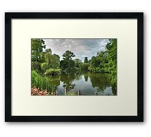 Dulwich Lake HDR No2: London, UK. Framed Print