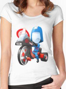 Cobra Commander on 80's big wheel Women's Fitted Scoop T-Shirt