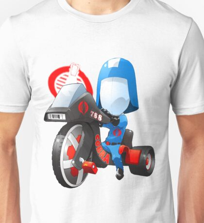 Cobra Commander on 80's big wheel Unisex T-Shirt