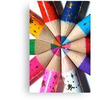 Pencil Crayons Canvas Print