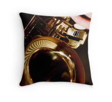 Jazz Saxophone Throw Pillow