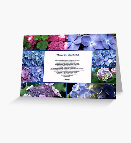 RECIPE FOR NANTUCKET Greeting Card