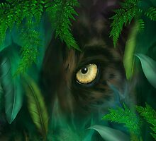 Jungle Eyes Panther by Carol  Cavalaris