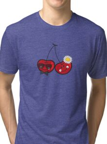 Mr. & Mrs. Cute Cheeky Cherries Tri-blend T-Shirt
