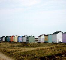 Kent Beach Huts by Kathy Dellow