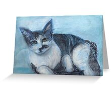 Blue 'Tude (Pastel) Greeting Card