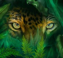 Jungle Eyes Jaguar by Carol  Cavalaris
