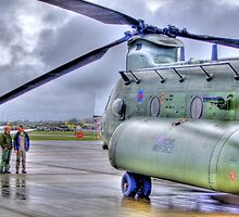 Chinook In The Rain HDR - Shoreham Airshow 2010 by Colin J Williams Photography