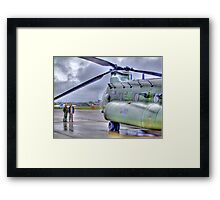 Chinook In The Rain HDR - Shoreham Airshow 2010 Framed Print