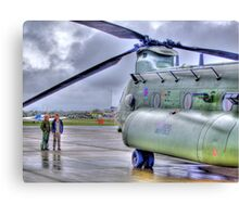 Chinook In The Rain HDR - Shoreham Airshow 2010 Canvas Print