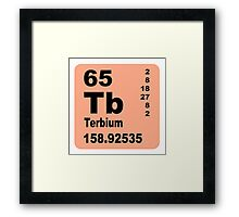 Terbium Periodic Table of Elements Framed Print