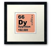 Dysprosium periodic table of elements Framed Print