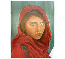 Afghan girl. Poster