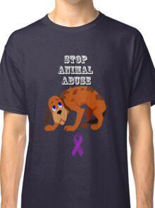 Stop Animal Abuse Awareness Classic T-Shirt