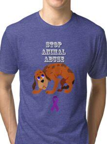 Stop Animal Abuse Awareness Tri-blend T-Shirt