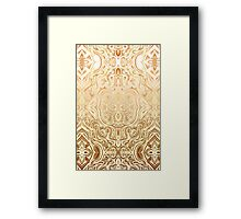 Tribal Swirl Pattern in Neutral Tan and Cream Framed Print