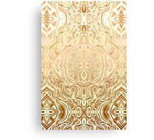 Tribal Swirl Pattern in Neutral Tan and Cream Canvas Print
