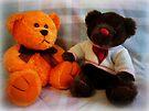 Ernie + Carol Bear by Susan S. Kline