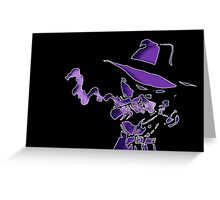 Purple Tracer Bullet Greeting Card