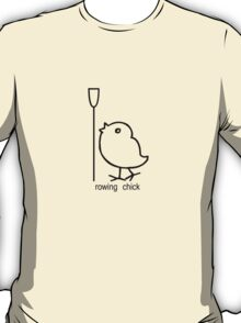 Rowing chick rowing apparel for women who row geek funny nerd T-Shirt