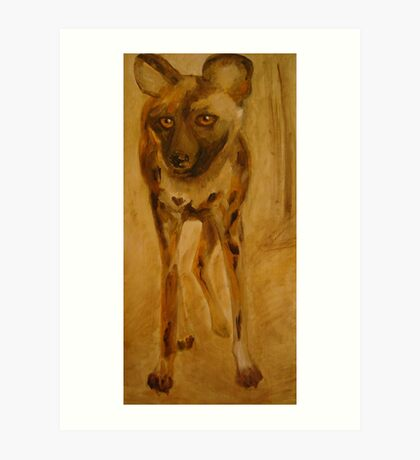 African wild dog. Art Print