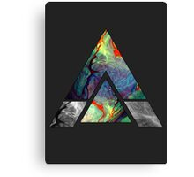 Abstract Geometry: Colorful Psychedelic Oils (Dark Grey) Canvas Print