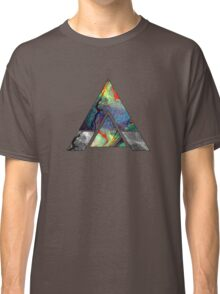 Abstract Geometry: Colorful Psychedelic Oils (Dark Grey) Classic T-Shirt
