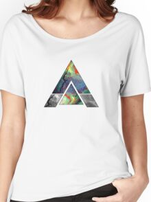 Abstract Geometry: Colorful Psychedelic Oils (Dark Grey) Women's Relaxed Fit T-Shirt