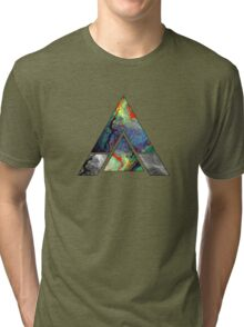 Abstract Geometry: Colorful Psychedelic Oils (Dark Grey) Tri-blend T-Shirt