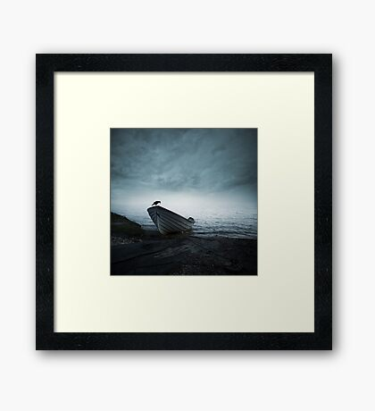 Mystery of the foggy lake Framed Print